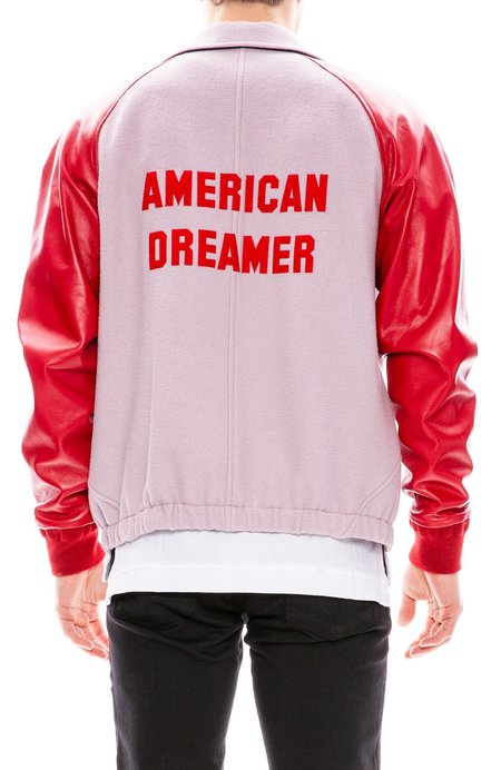 Tim Coppens American Dreamer Letterman Jacket - Dusty Pink