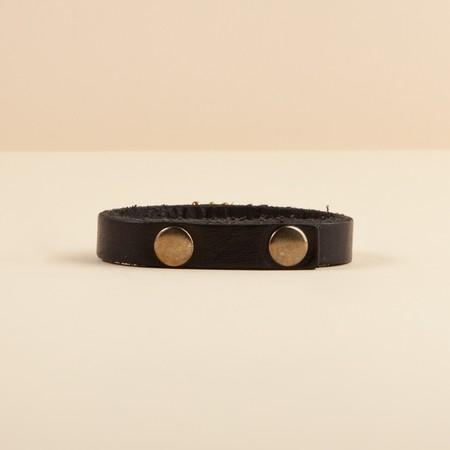 Nihan Atakan Eye Leather Bracelet - BLACK