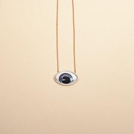 Ayla My Eyes on You Necklace - Rose Gold