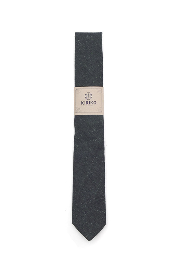 Kiriko Teal Chambray Tie