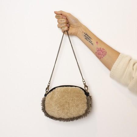 Exquisite J Fur Shoulder Bag - Black