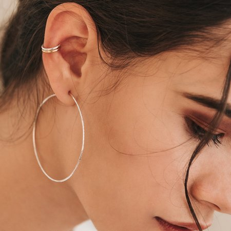 Kara Yoo Pull-Me-Through Round Hoops - Large