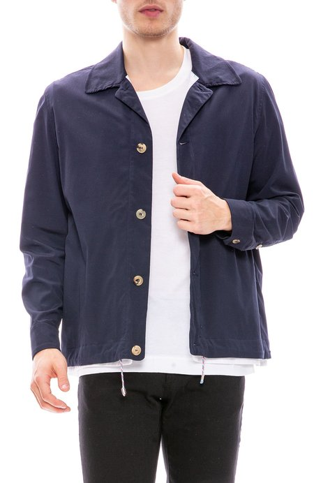 Tim Coppens Double Shell Coach Jacket - Navy