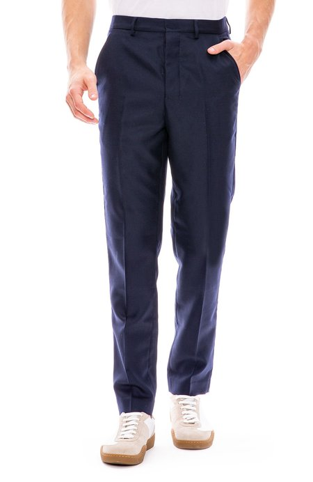 Ami Textured Suit Trouser - Navy 410