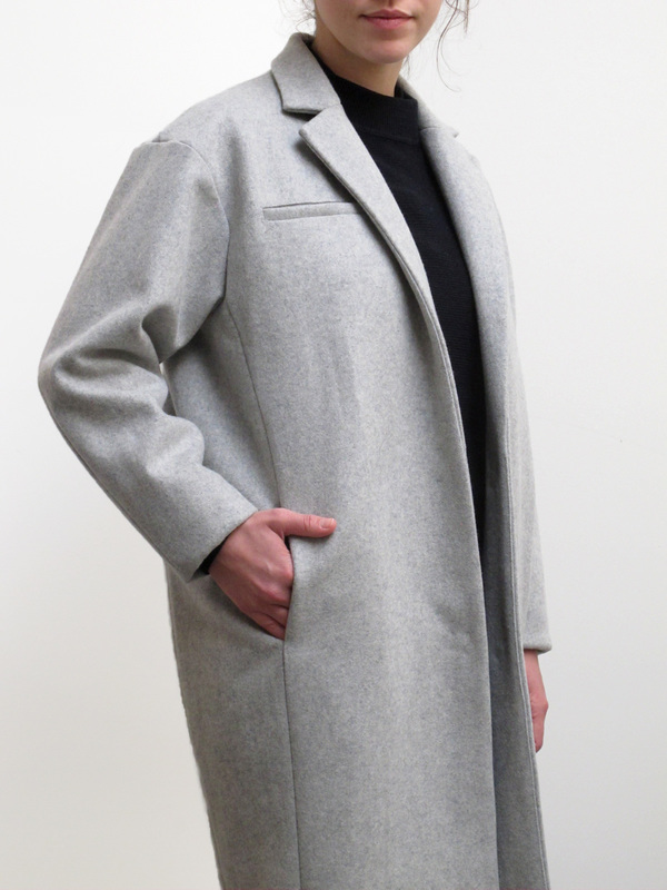 Waltz Navy Notch Collar Coat