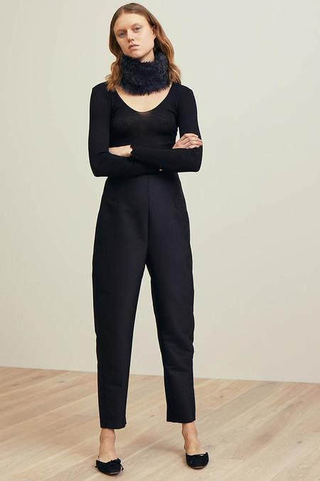 Totême Wool Blend Slim Trousers With Dropped Crotch