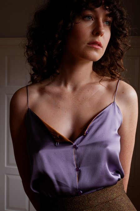 Chistine Alcalay SIlk Charmeuse Reversible Cami
