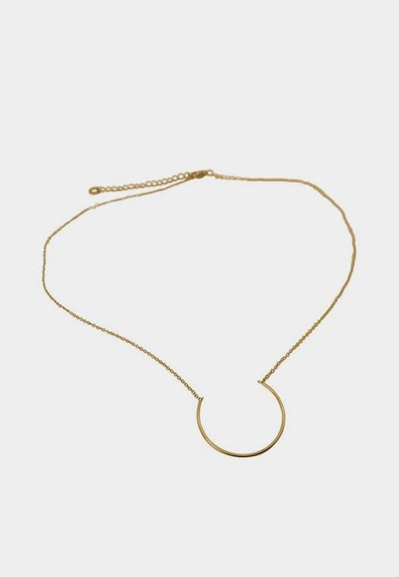 Wos Semi Circle Necklace - Gold