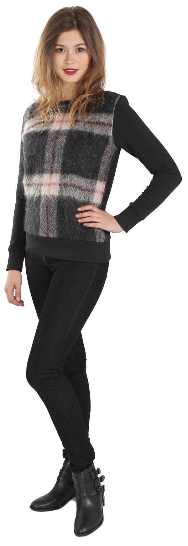 Sonia Rykiel Check Mohair Mix Sweatshirt