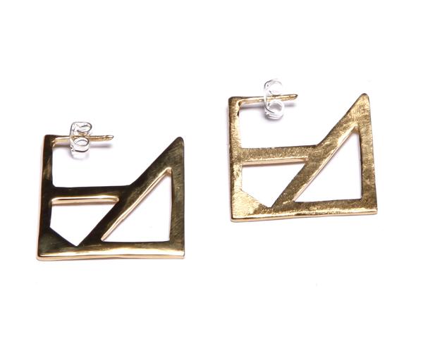 Alynne Lavigne Square Earrings in 22k gold