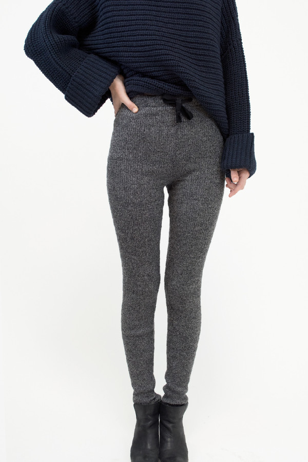 Micaela Greg Speckle Grey RIbbed Slim Sweat
