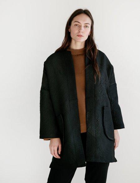Priory Womens L/S Range Jacket - Jacquard Black
