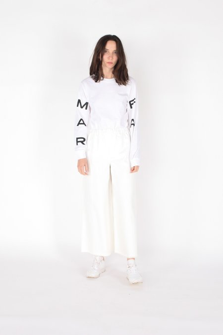 Ashley Rowe Marfa Tx Long Sleeve Tee - WHITE