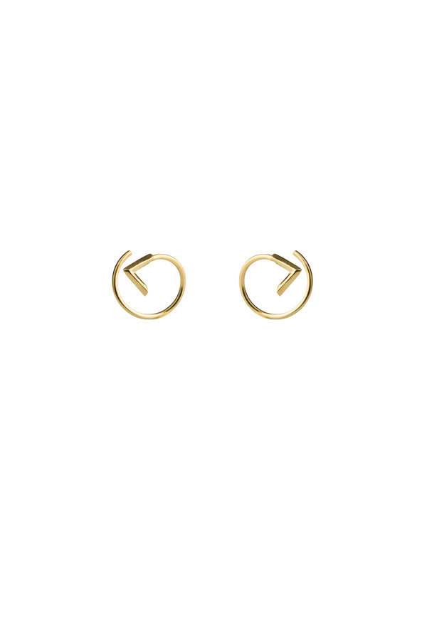 Maria Black Check Twirl Earring