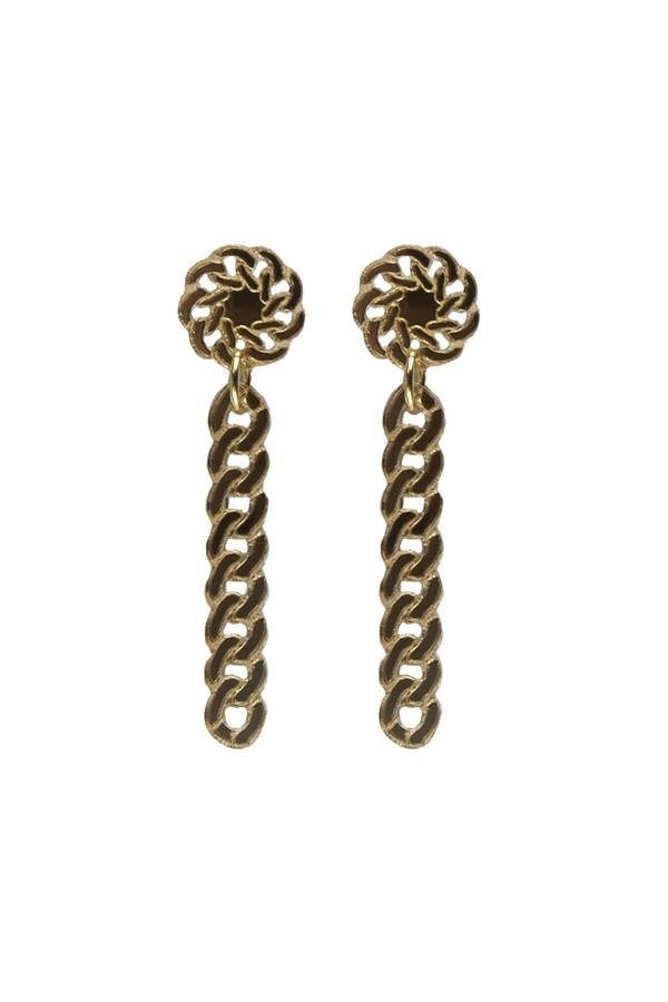 ISLYNYC Gold Chain Drop Earrings