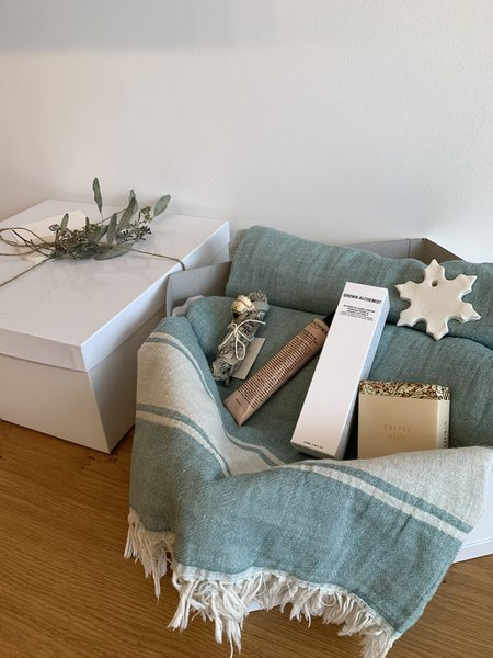 August Market For The Home Throw Gift Box