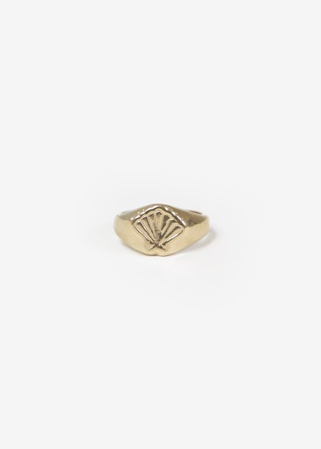 Wolf Circus Marcel Signet Ring - Gold