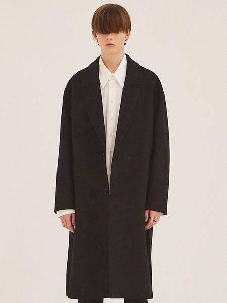 ADD Robe Cashmere Coat - Black