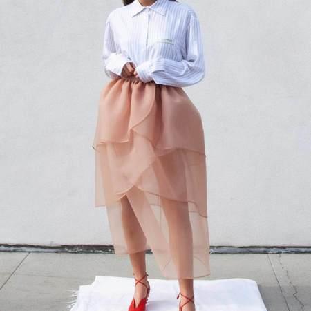 KIMHEKIM Lotus Skirt - Pink Nude