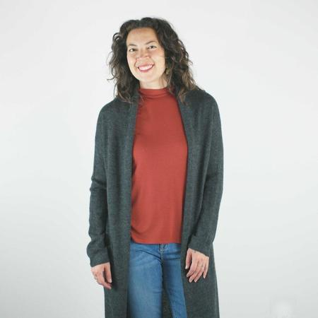 Erdaine Grace Cardigan - Charcoal