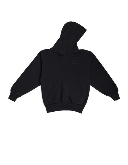 Kids Balenciaga Kids Cotton Embroidered Hoodie - Black