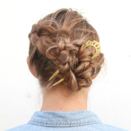 Nikki Jacoby Maza Hair Comb - Brass