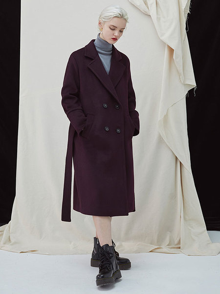 MILLOGREM Pivot Coat - Wine
