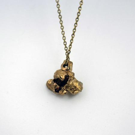 Gold Teeth Brooklyn Popcorn Necklace - Brass