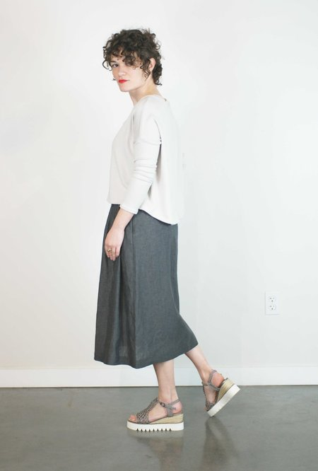 Pillar Tulip Skirt - Denim