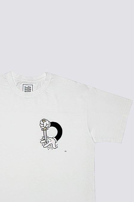 Good Good Good Knife Hands T-Shirt - white