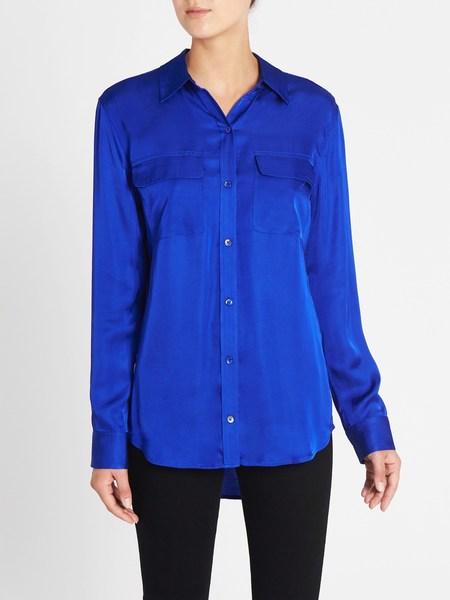 Equipment Signature Shirt - Hyper Blue
