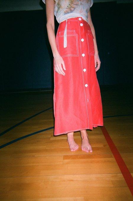 Maryam Nassir Zadeh Ines Skirt - Tomato Red