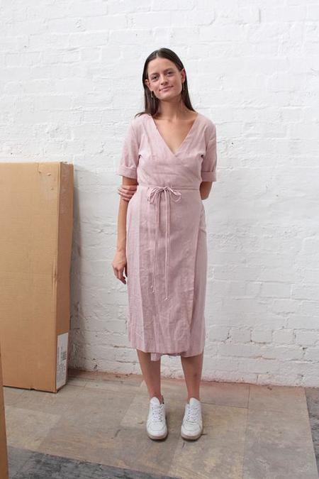 Lois Hazel Wrapped Dress - Blush