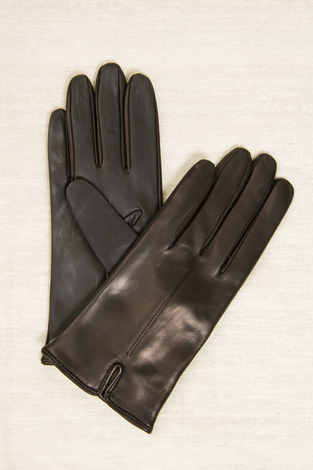 Fratelli Orsini Cashmere-lined Touch Screen Gloves - BLACK