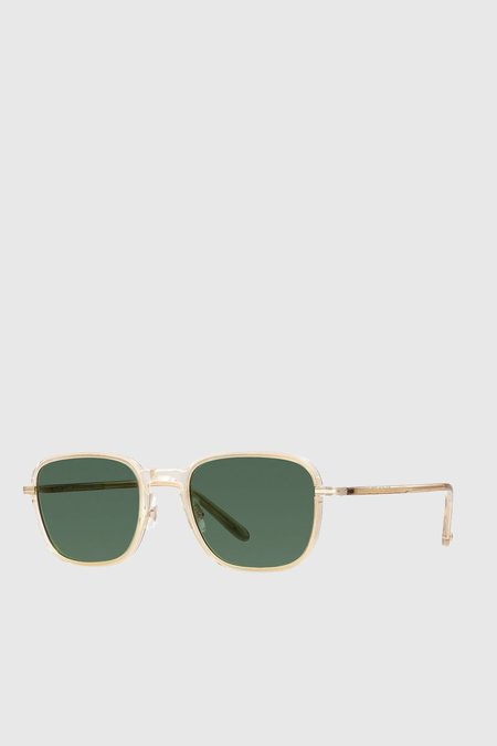 Unisex Garrett Leight Pier 50 - Champagne Gold/Semi-Flat Pure Green