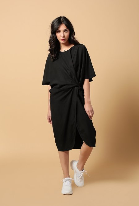 Priory Tether Dress - Matte Black