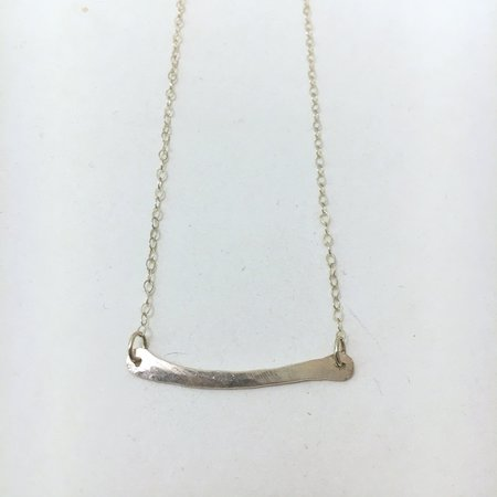 Silversheep Jewelry Hammered Bar Necklace - Silver