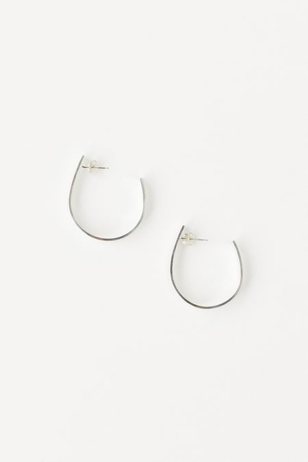 WOLF CIRCUS ADELADE OVAL HOOPS - STERLING SILVER