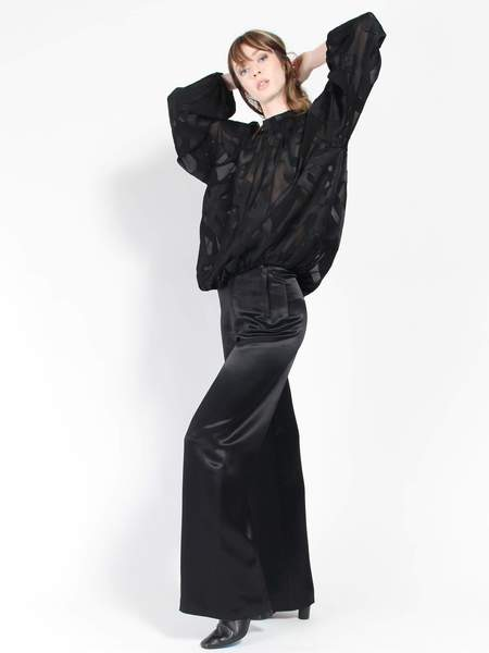 Rodebjer Sini Satin Pants - Black