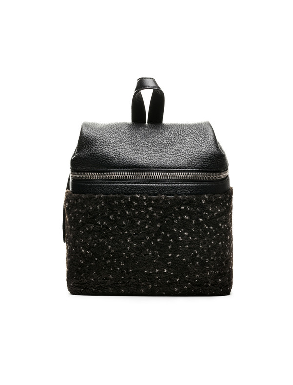 Kara Small Shearling Backpack Speckled