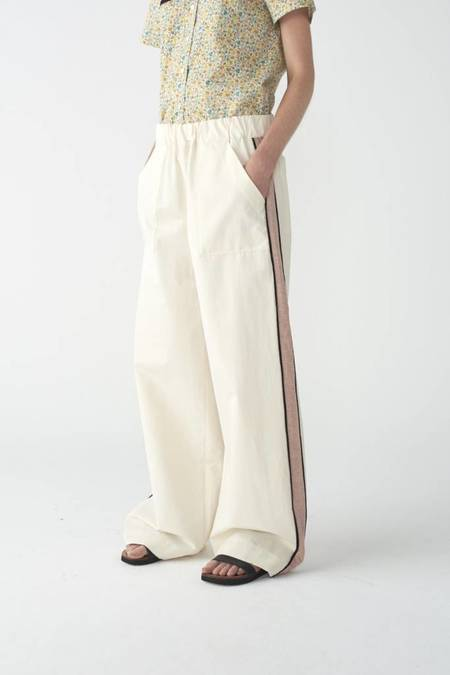 Matin Contrast Pant - IVORY