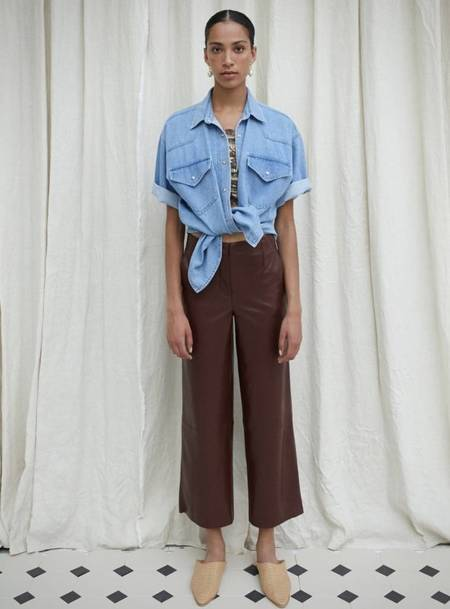 Nanushka Africa Trousers - Plum Chutney