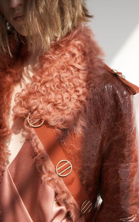 Dion Lee LH Shearling Jacket - RUST