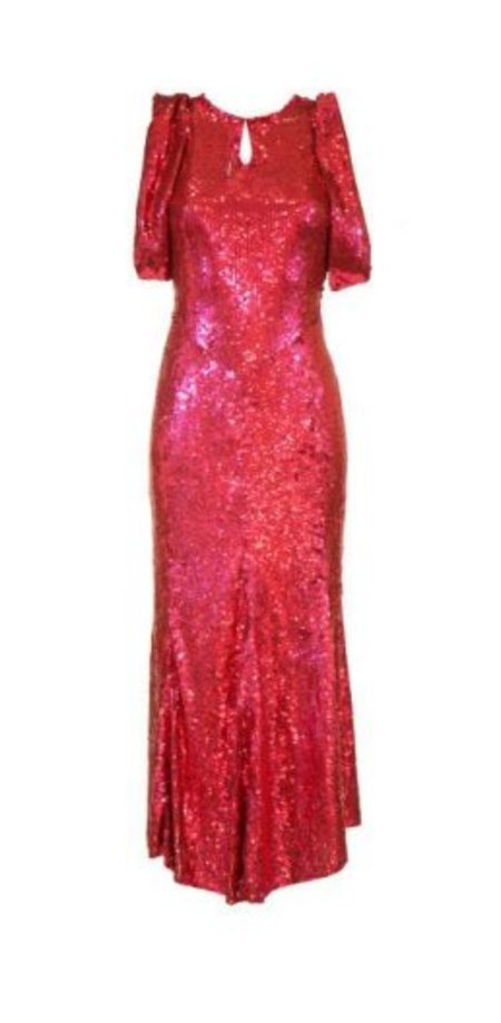 Attico Tulle Sequins Dress - Red/Pink