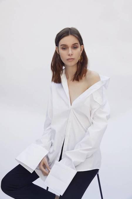 Anna Quan Accent Shirt - WHITE