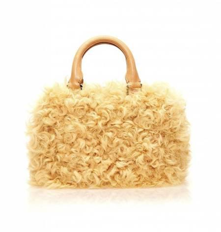 Brother Vellies Curly Goat Mini Island Bag - MANGO