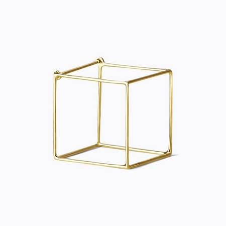 Shihara Square Earring 20mm - 18k Gold
