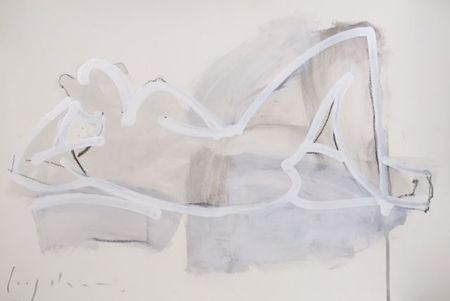 """Kate Long Stevenson """"Untitled in White III"""" Framed"""