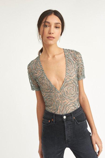 ALEXIA KLEIN Tulle Bodysuit - Silver