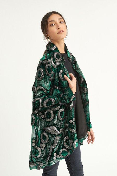 ALEXIA KLEIN Velvet Coat - Green